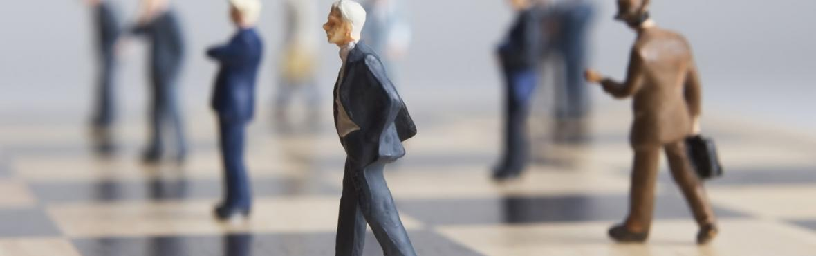 a figure standing out of the crowd